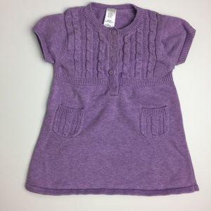 [3/$20] Baby Gap Purple Shirt Dress (6-12m)